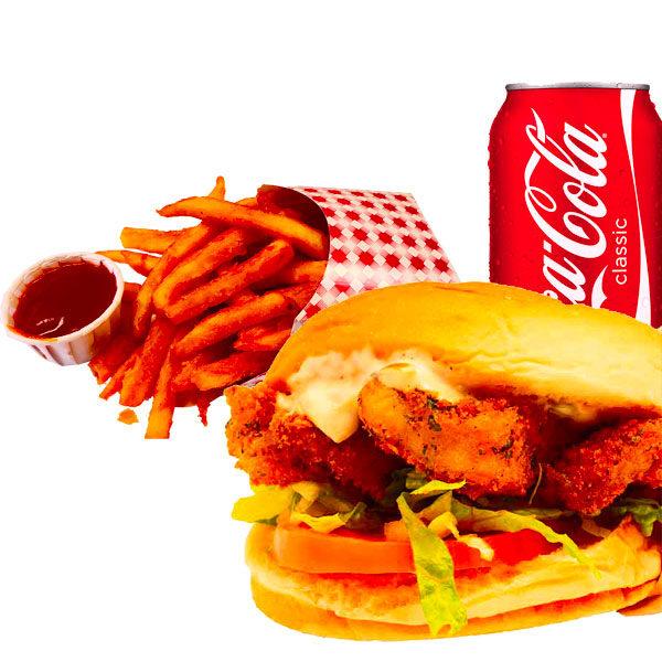 Crispy fish sandwich combo