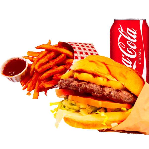 Hawaiian burger combo